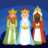 Three Kings Clip Art.