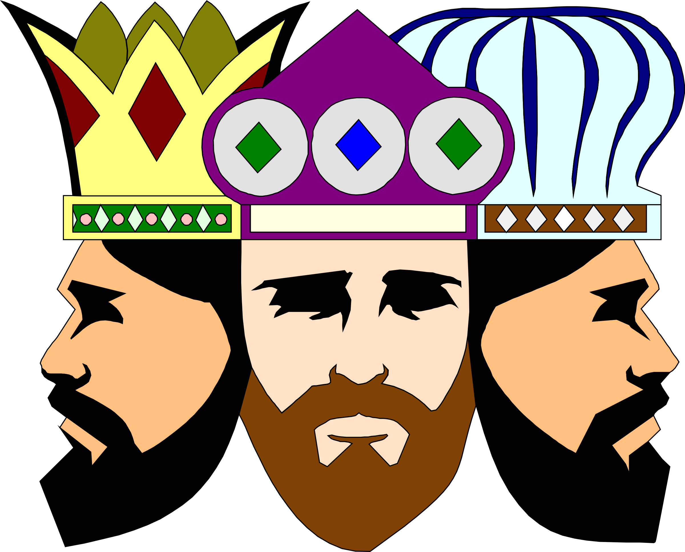 Three Kings Vector Clipart image.