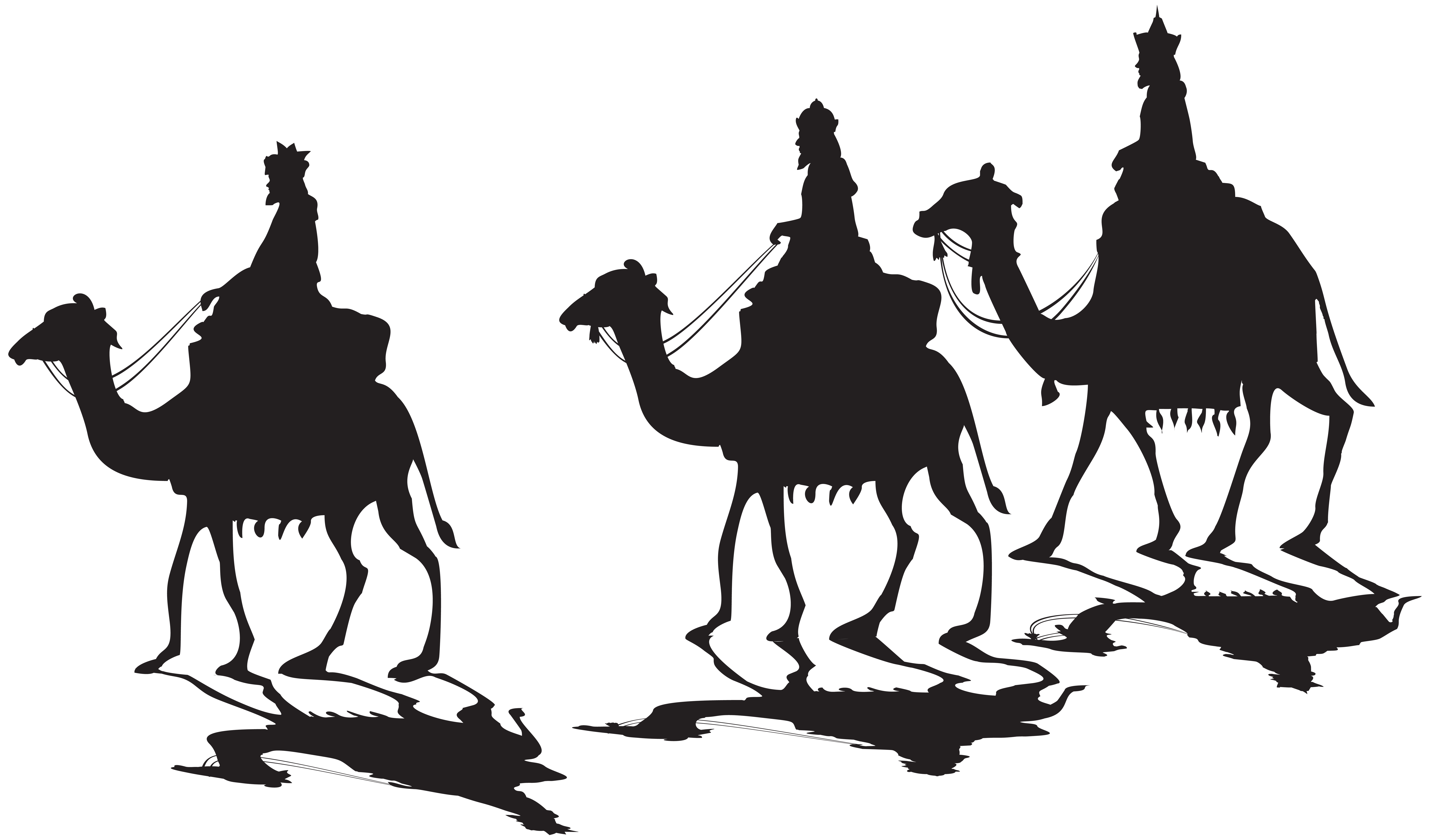 Three Kings Silhouette PNG Clip Art.