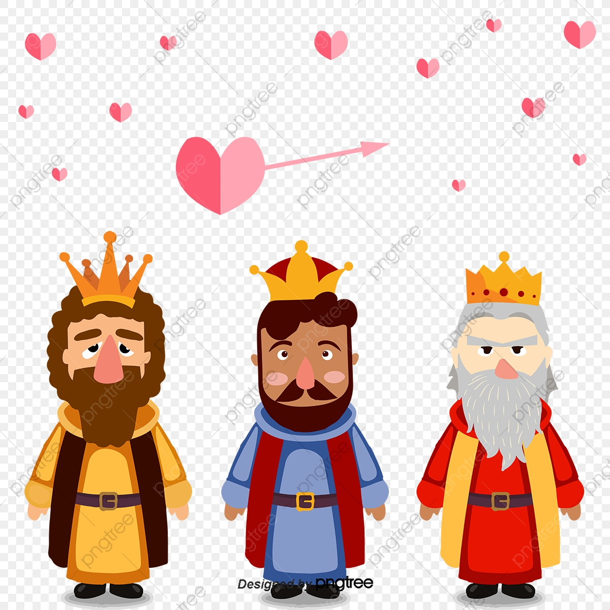 Flat Three Kings, King, Flat, Imperial Crown PNG and Vector.