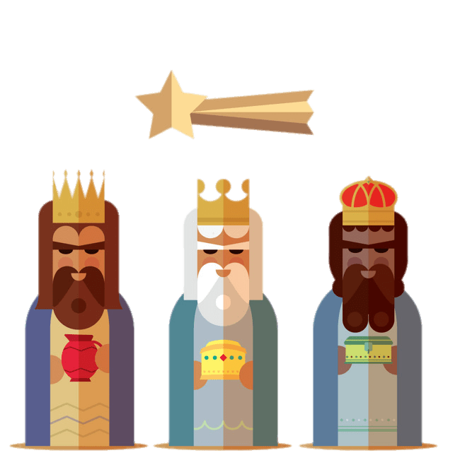 Three Kings and Shooting Star Drawing transparent PNG.