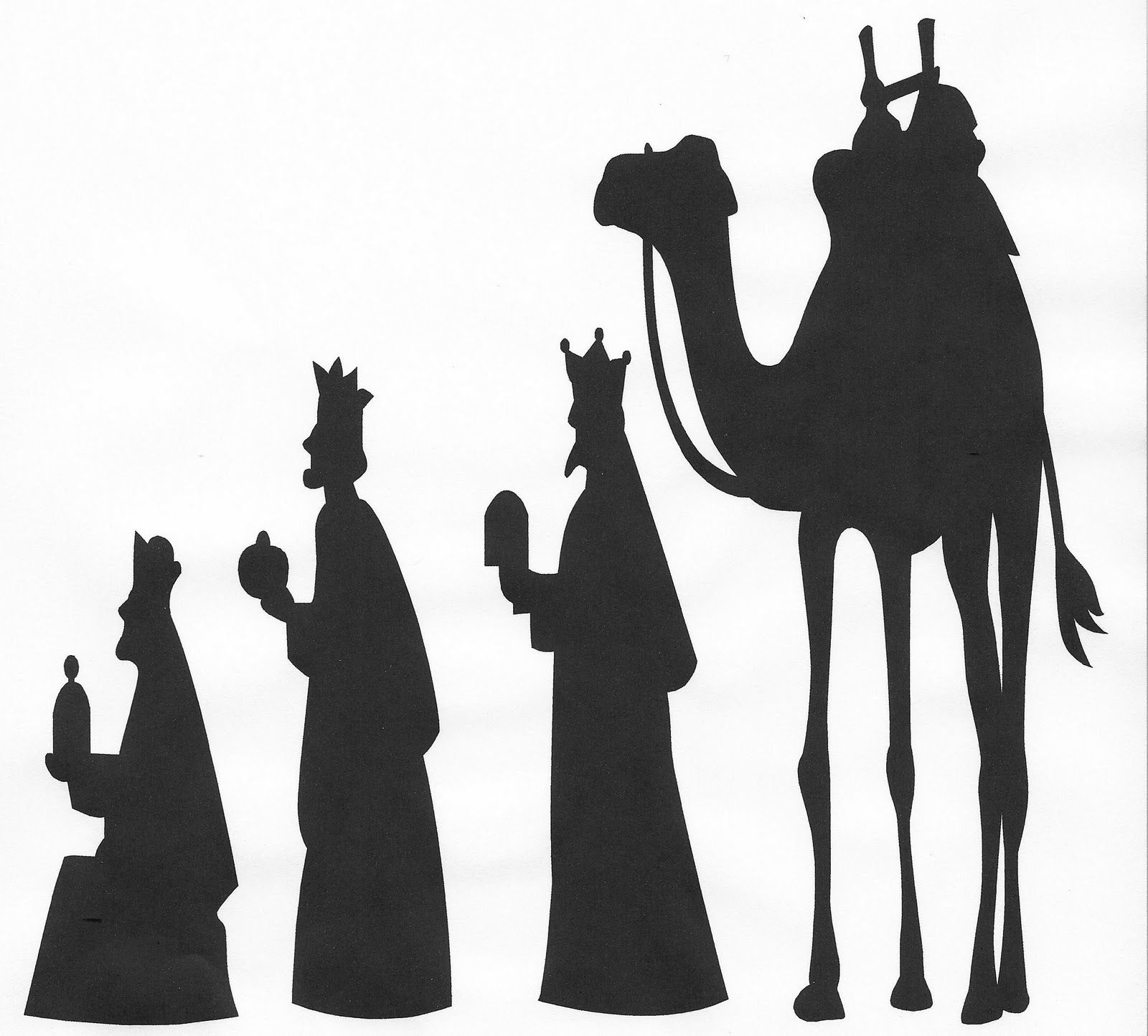 wise men silhouette clip art.