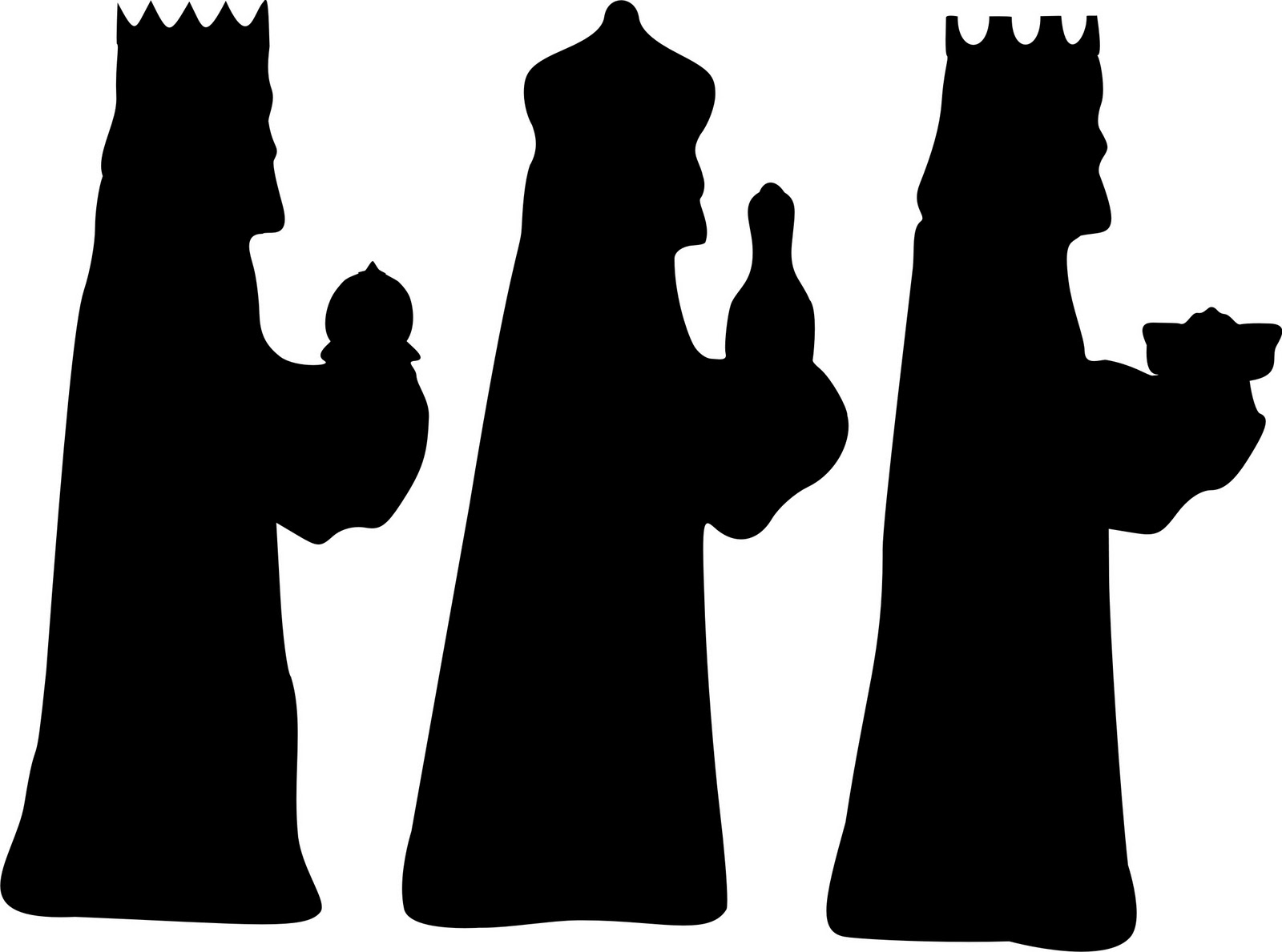 Free Three Wise Men Silhouette, Download Free Clip Art, Free.