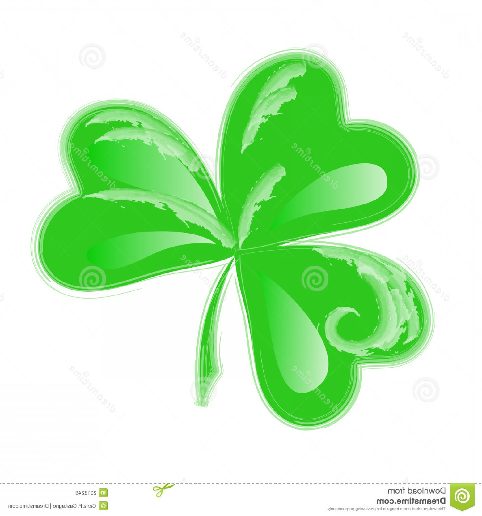 Royalty Free Stock Images Three Leaf Clover Clip Art Image.
