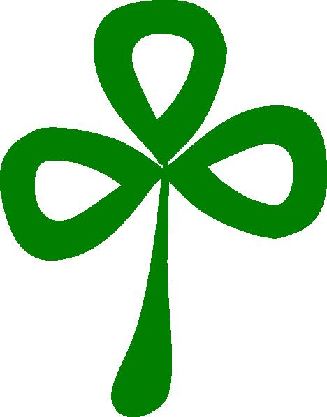 Three Leaf Clover clip art.