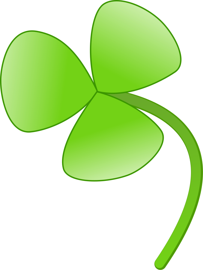 Three leaves clover Clipart.