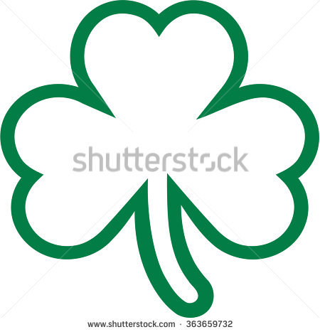 Three Leaf Clover Stock Images, Royalty.