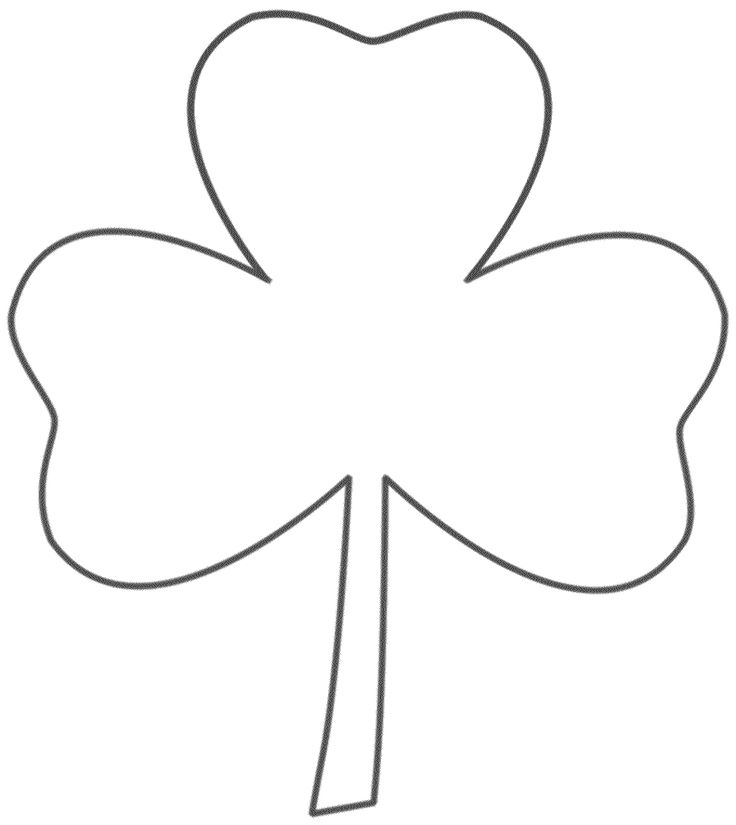 coloring pages 3 leaf clover - photo#45