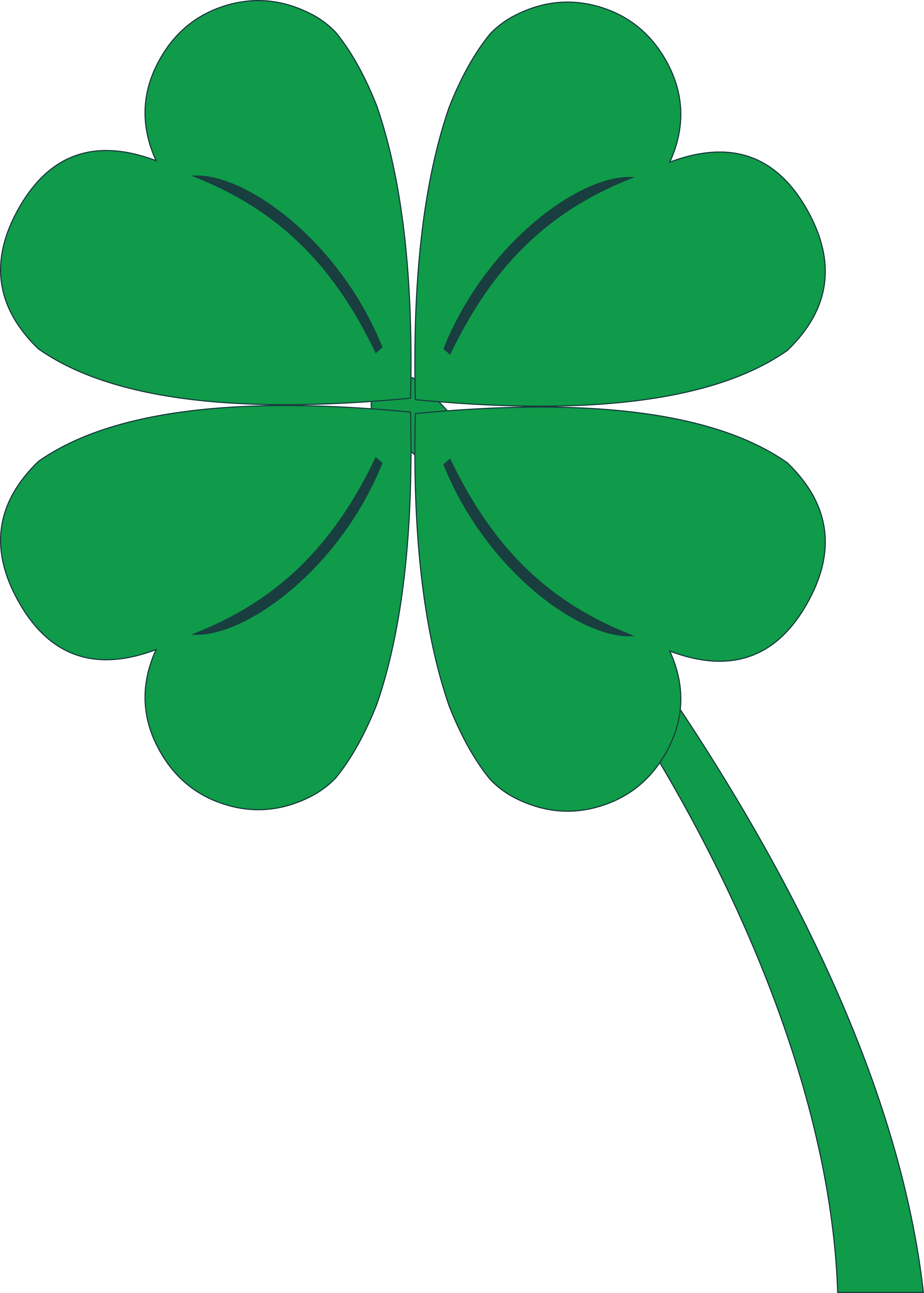 3 Leaf Clover Png Clipart Black And Whit #53693.
