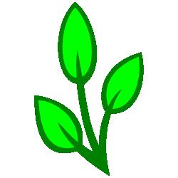 Green Leaf Border Clip Art.