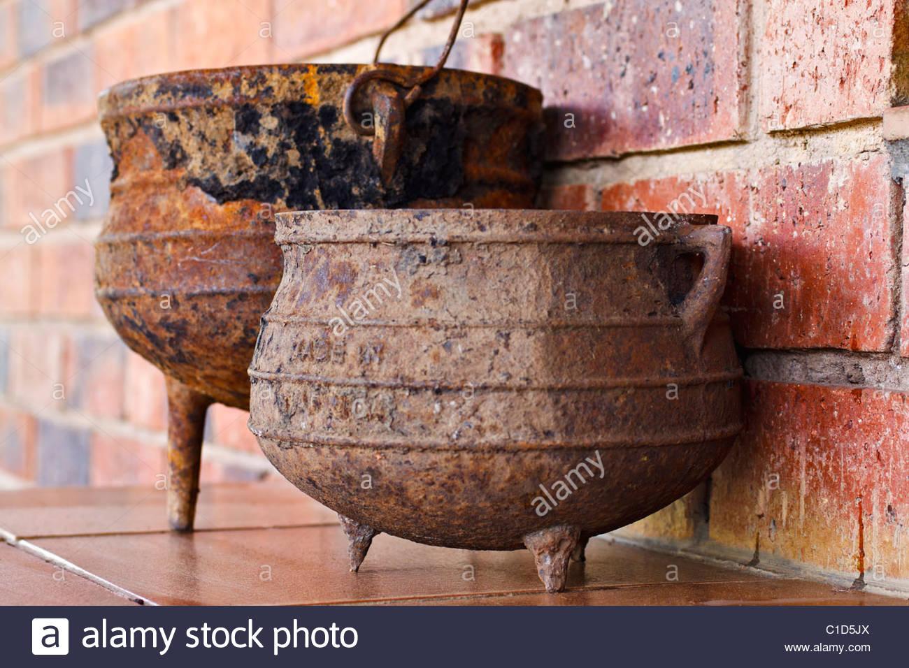 Cast Iron Three Legged Pots.
