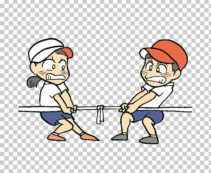 Sports Day Illustration Tug Of War Three.