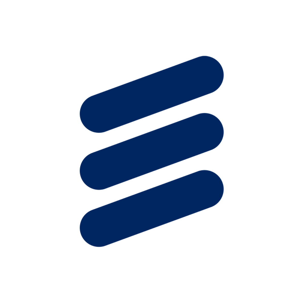Three Diagonal Blue Lines Logo.