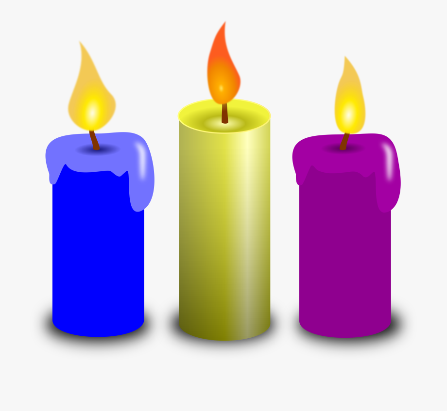 Clipart Of Believe, Wish And Advent Candle.