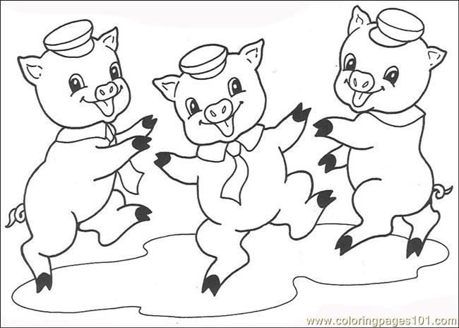 Three little pigs clipart black and white 8 » Clipart Station.