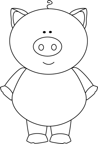 Free Three Little Pigs Clipart Black And White, Download.