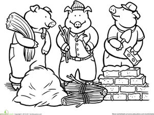 Three Little Pigs Png Black And White & Free Three Little.