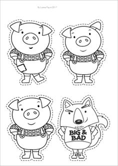 Three little pigs clipart black and white 2 » Clipart Station.