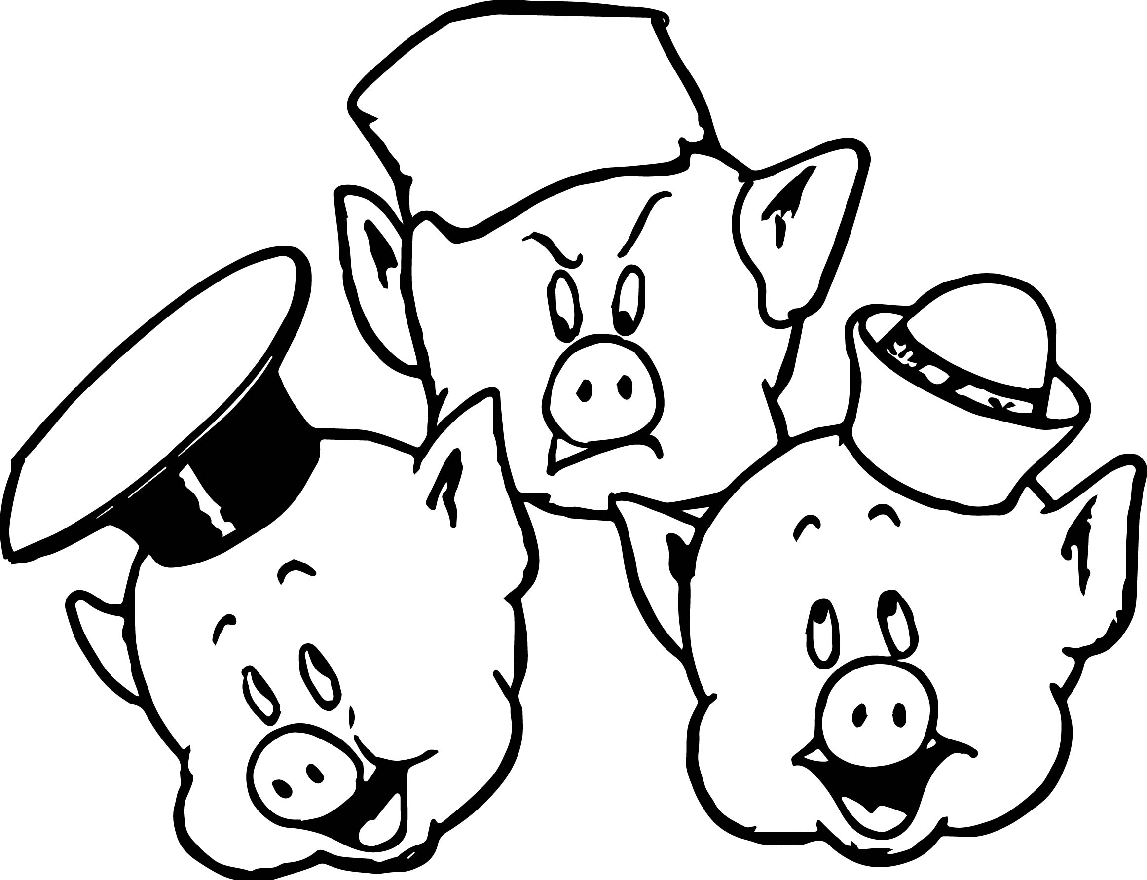 Pig face 3 little pigs face coloring page wecoloringpage.