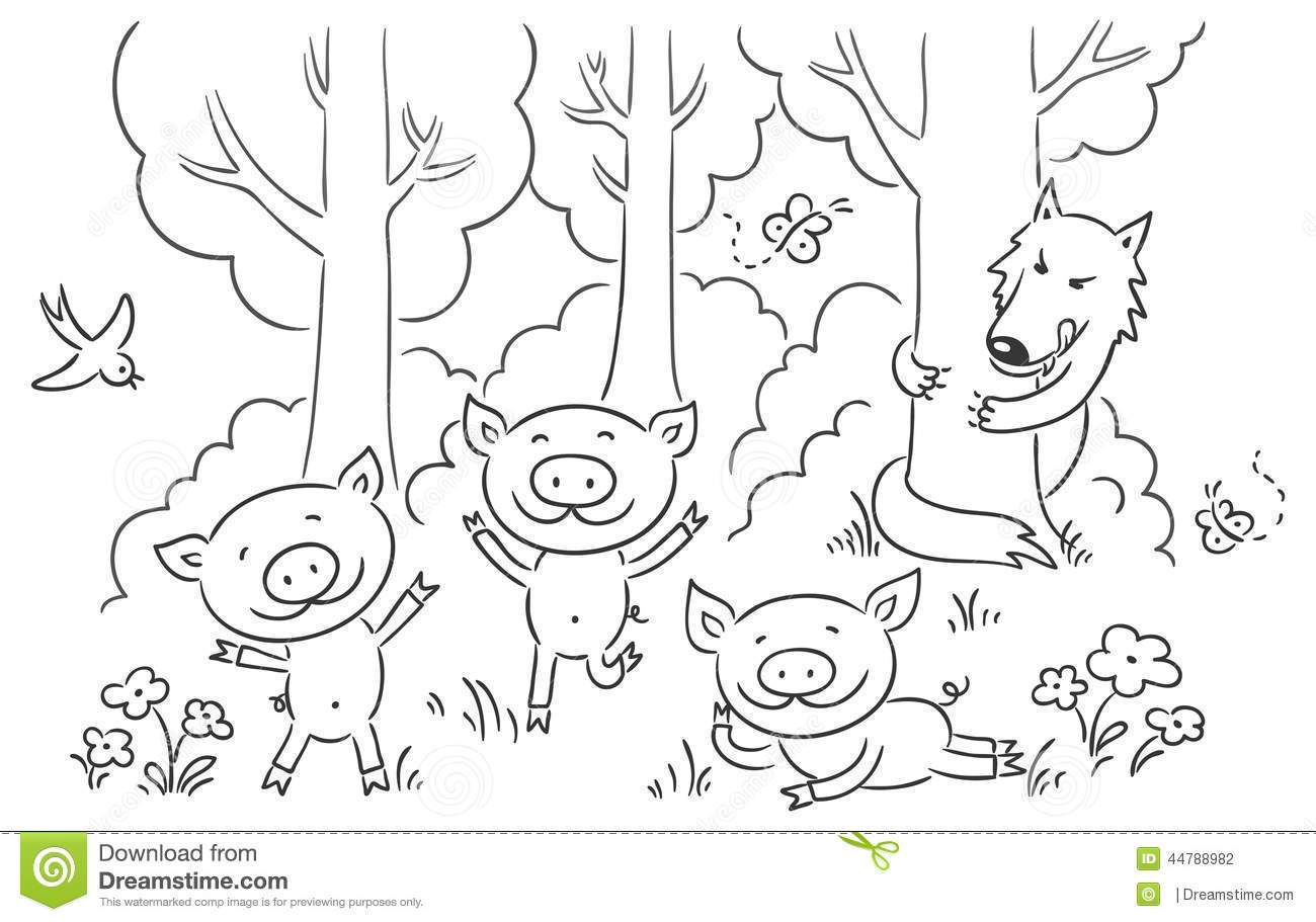 Three little pigs clipart black and white 6 » Clipart Portal.