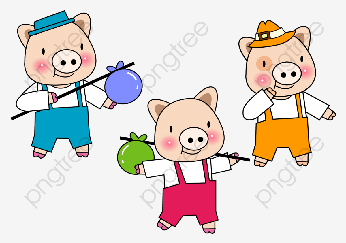 Three Little Pigs, Cartoon Pig, Sixty One PNG Transparent.