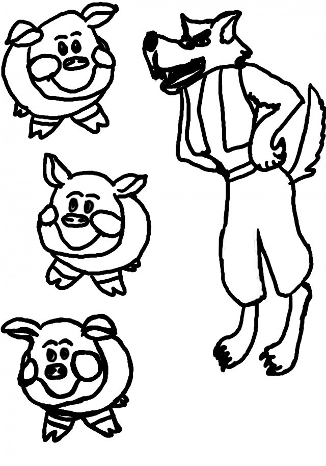 Three little pigs clipart black and white 4 » Clipart Portal.