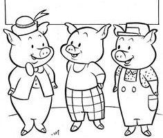 Three little pigs clipart black and white 3 » Clipart Station.