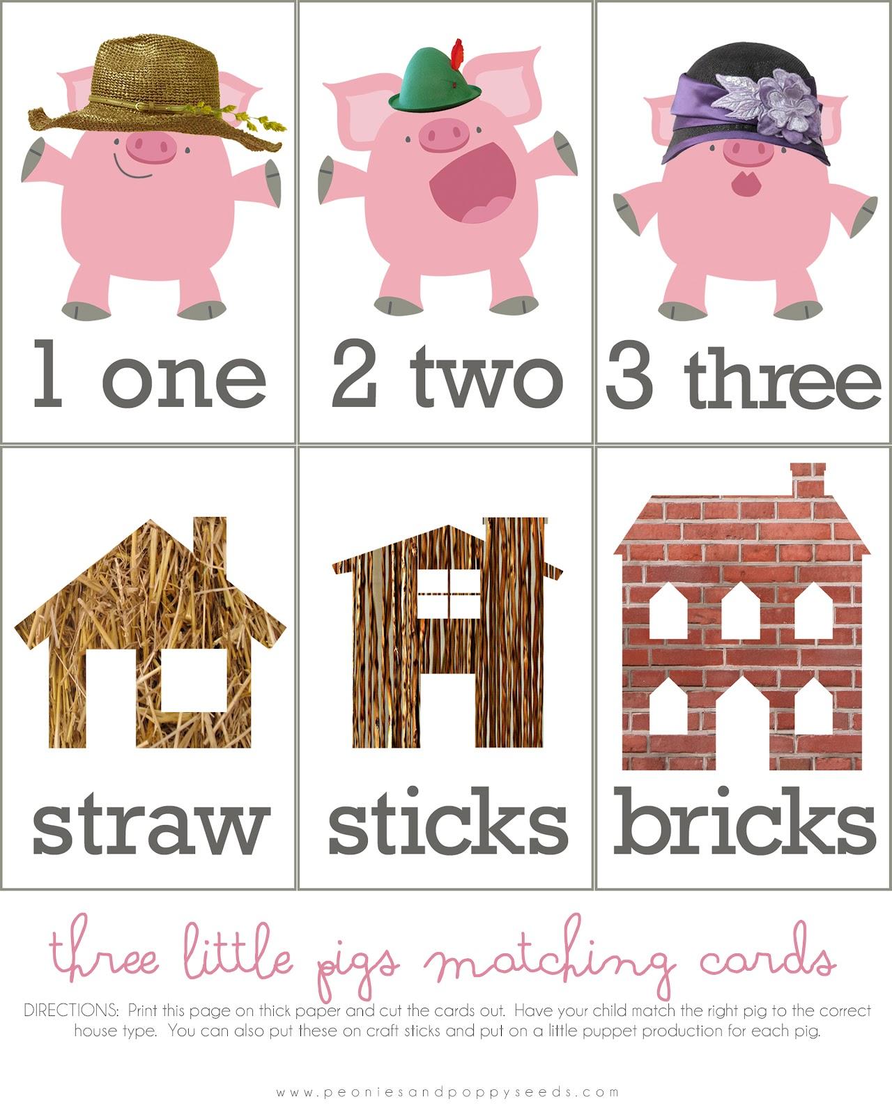 Three little pigs activity.