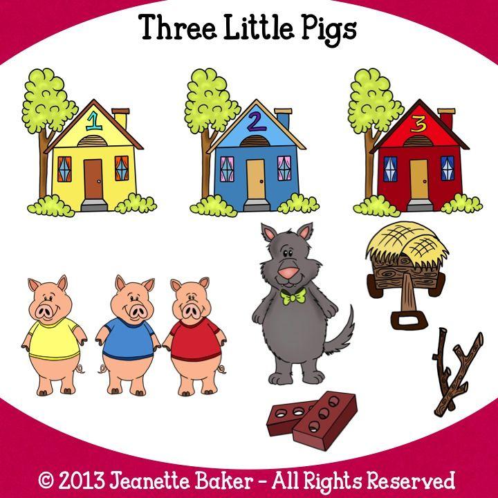 Three Little Pigs Clipart & Three Little Pigs Clip Art Images.