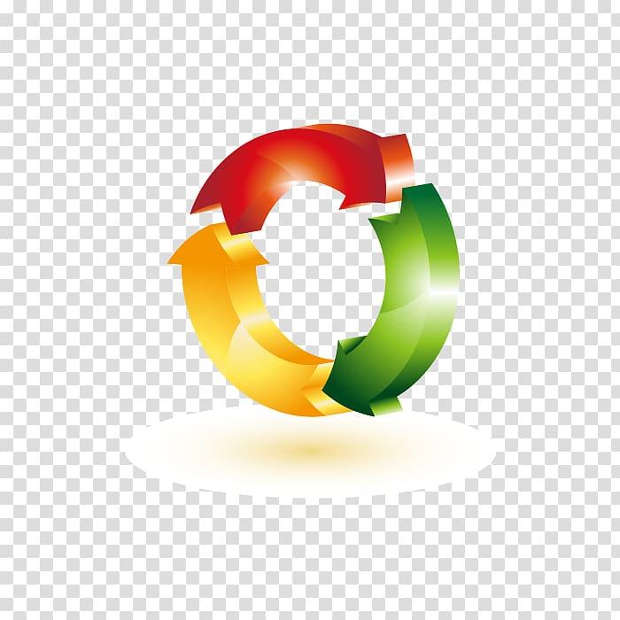 Paper Copy Express Logo Recycling symbol, three.