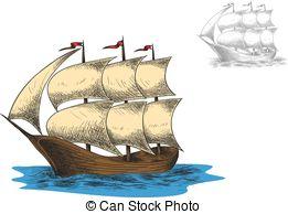 Three masted ship Clipart and Stock Illustrations. 39 Three masted.