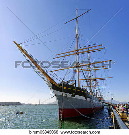 """Pictures of """"Balclutha"""""""""""""""", a three masted sailing ship at the."""