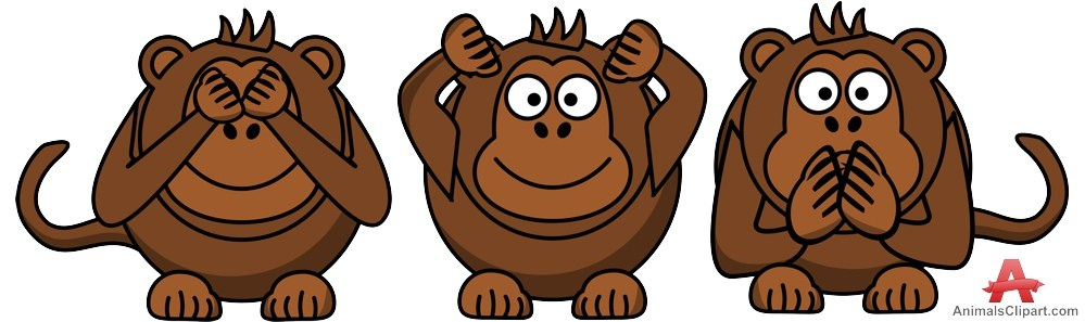 Three monkeys clipart 3 » Clipart Portal.