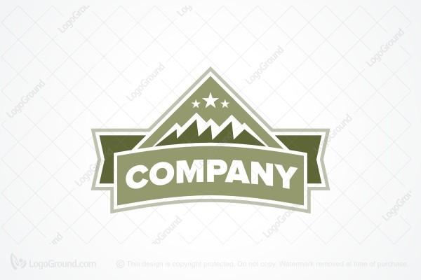 Exclusive Logo 52879, Three Stars Mountain Logo.