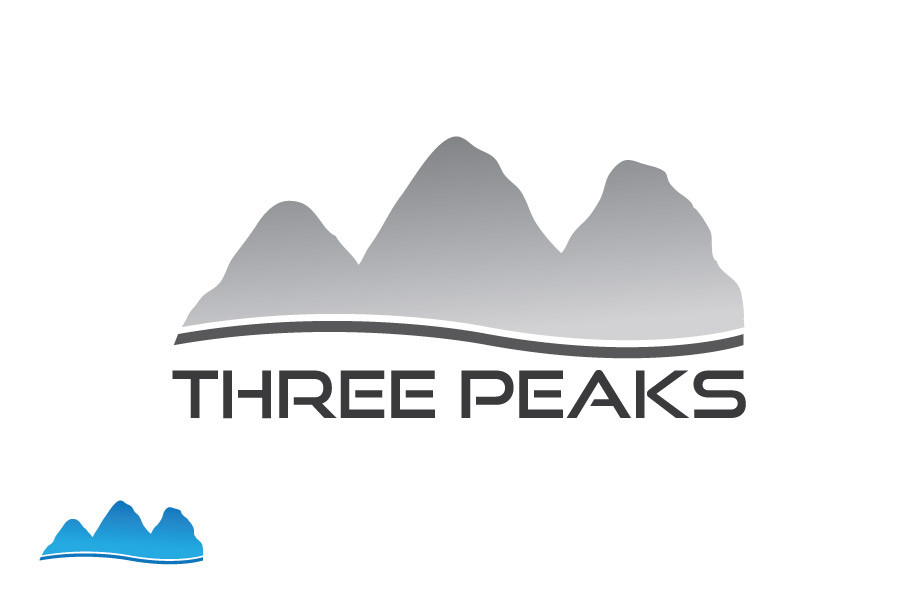 Entry #407 by aziz98 for Three Peaks Logo Design.