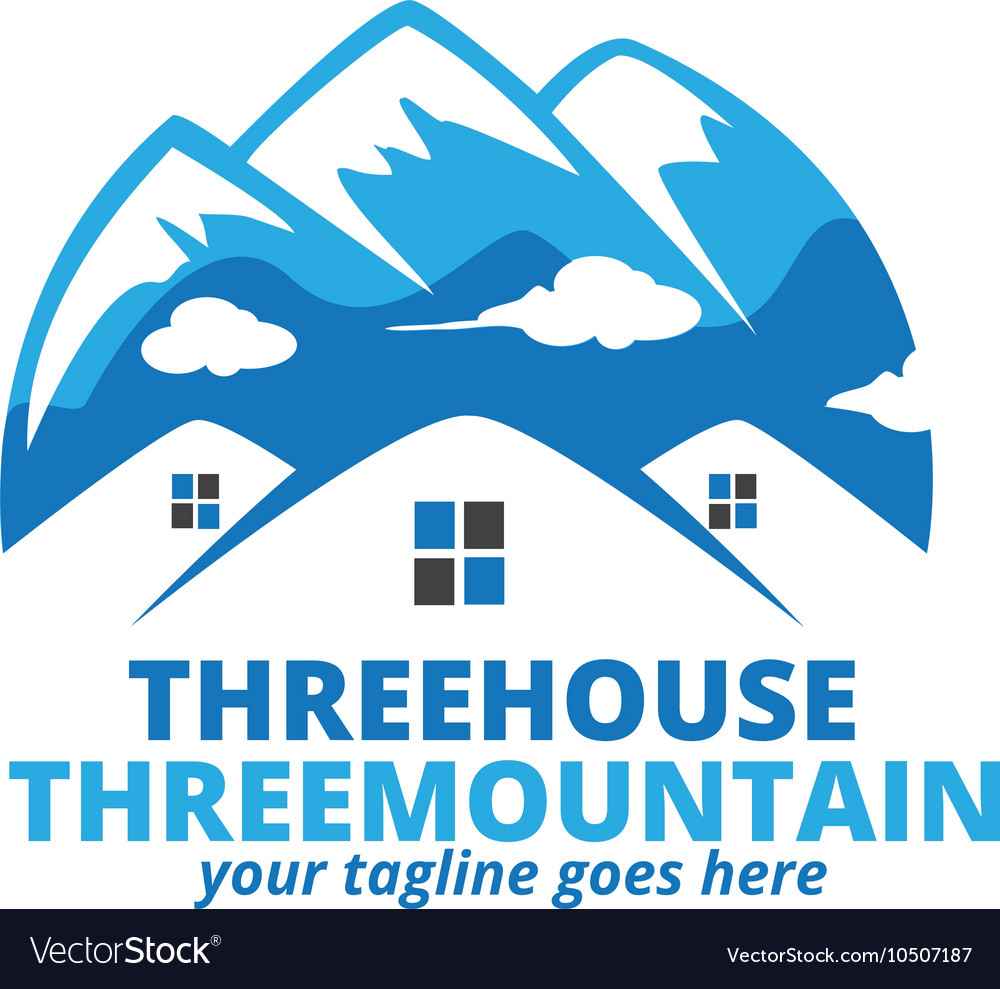 Three House Three mountain Logo.