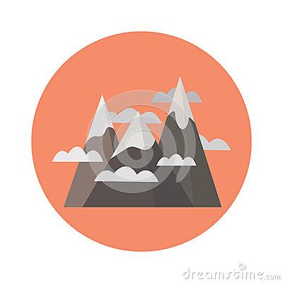 Mountains Stock Vector.