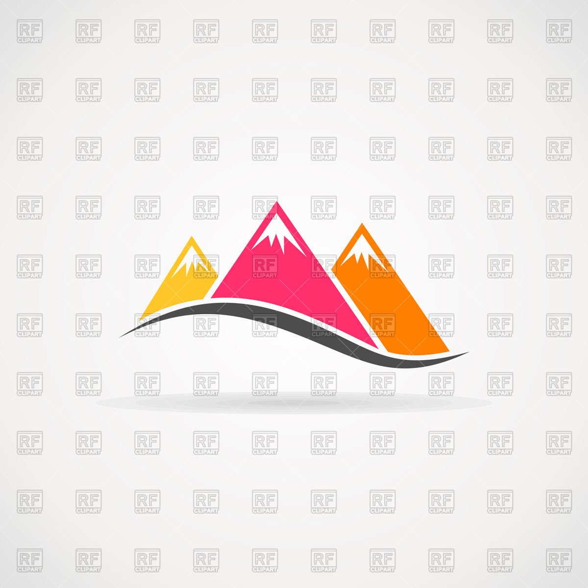 Three mountains icon Vector Image #95566.