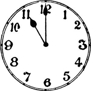 O'clock clipart.
