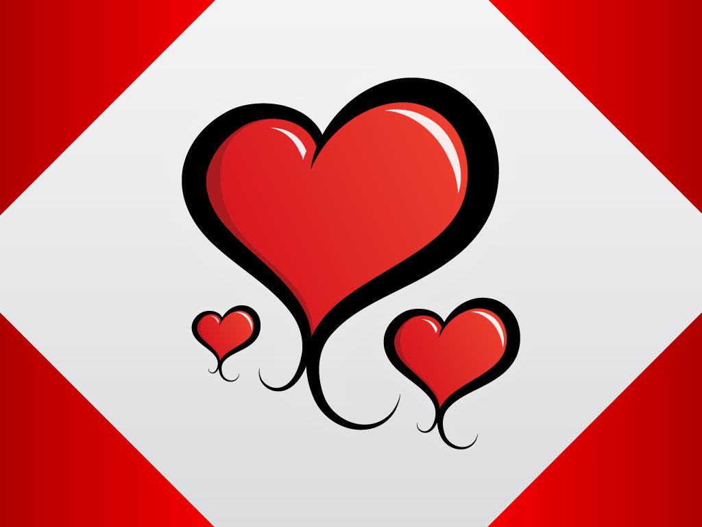 Stylized Hearts Card.