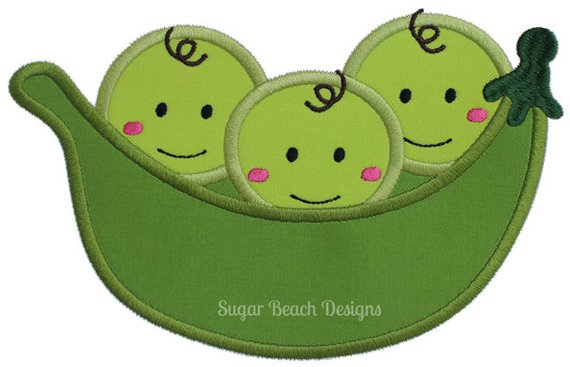 Three peas in a pod clipart 1 » Clipart Station.