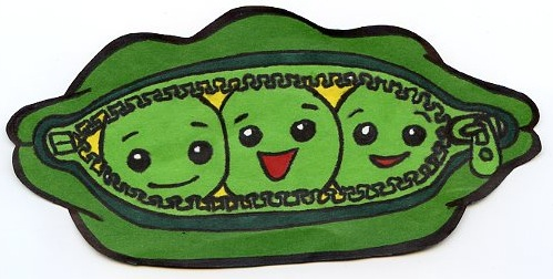 325 Peas free clipart.