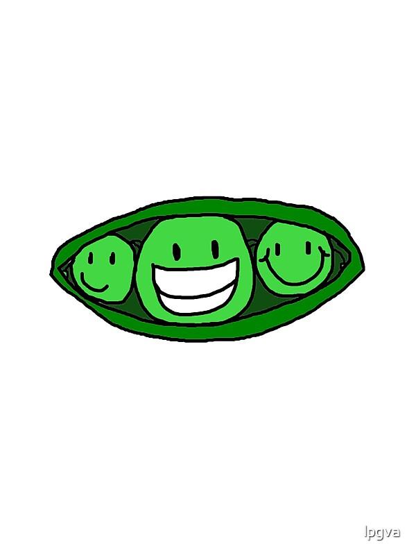 'Three Peas in a Pod' Sticker by lpgva.