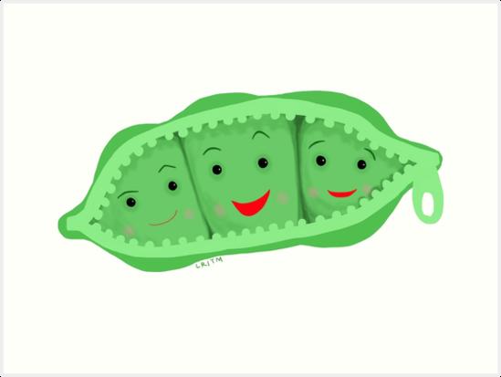 \'3 peas in a pod\' Art Print by LibbyroseITM.
