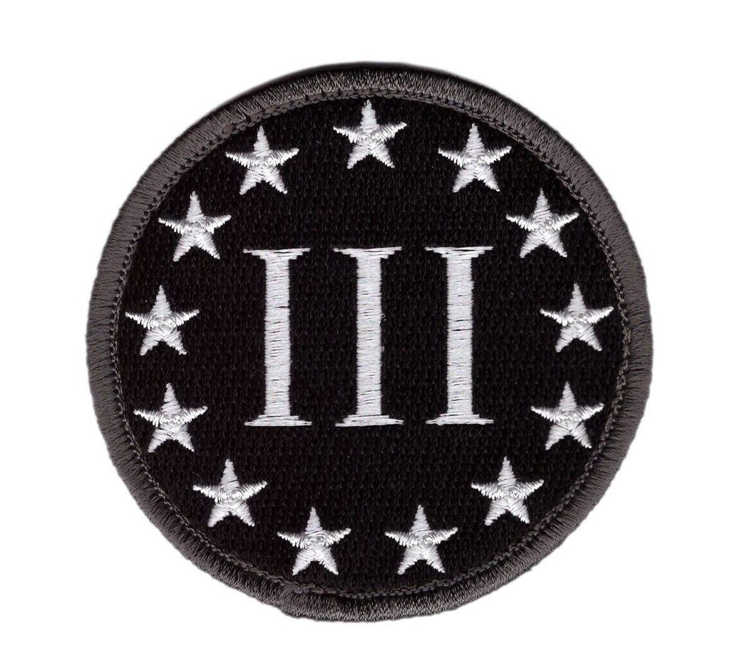Three Percenter Logo Patch (Embroidered Hook).