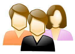 Three People Clipart.