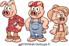 Three Little Pigs Clip Art.