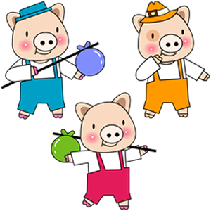 Three little pigs.