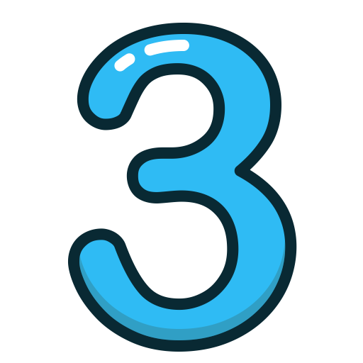 Download Free png three Icon.