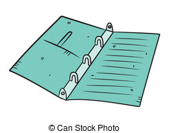 3 Ring Binder Clip Art.